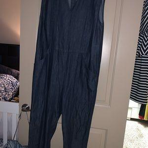Demin oversized jumpsuit